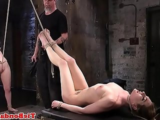 Maledom pegs subs pussy oral sex trio