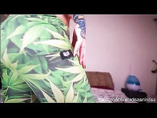 Sabrina Sabrok squeezing huge natural boobs and bigger butt