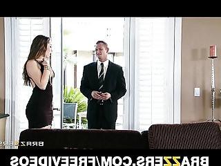 Young wife Dani Daniels fucks her husbands business partner