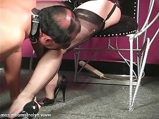 Nylon Mistress Whipping