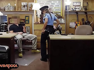 Police officer sells her weapon and railed by pawn guy