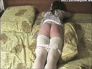 Hard belt spanking domestic punishment