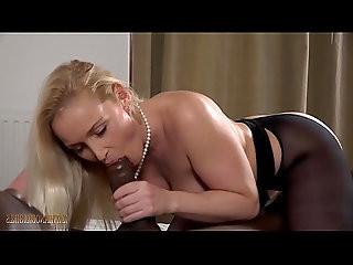Blondie Kathia blow BIG, BLACK MONSTER COCK!!!
