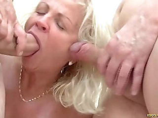 crazy years old grannies first double penetration