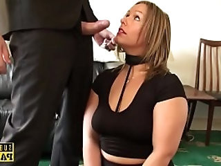 Curvy Britt roughly fucked drenched in spit