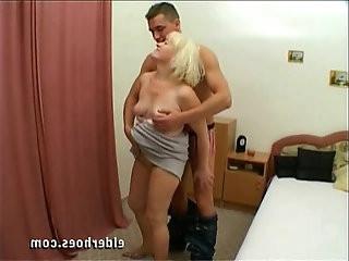 Mature blond granny in hardcore sex action