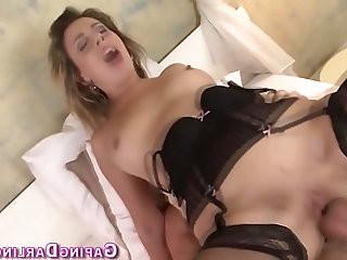 Ass fucked babe jizzed