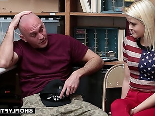 Shoplyfter Girlfriend Fucked By Sleazy Officer and Boyfriend Watches
