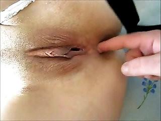 MILF anal masturbation