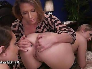 Lesbian butt sniffers got anal strap