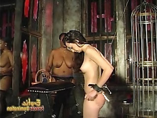 Voluptuous black chick loves spanking her white girlfriend hard