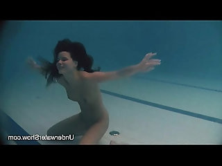 Erotic underwater show of Natalia